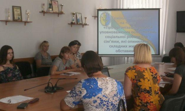 Проведено навчання з уповноваженими особами з питань соціальної роботи сільських рад, які працюють із сім'ями, які опинилися в складних життєвих обставинах